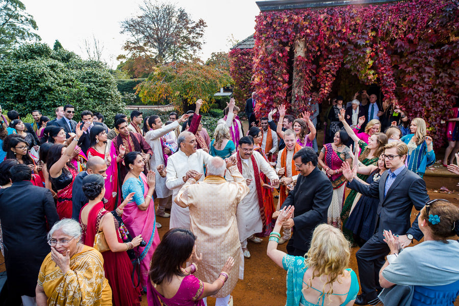 Fusion Indian Wedding  Baraat Dancing | Hilary Cam Photography