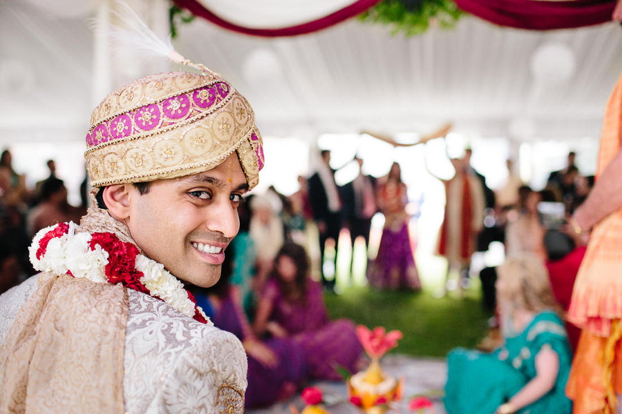 Indian Wedding Ceremony Groom | Hilary Cam Photography