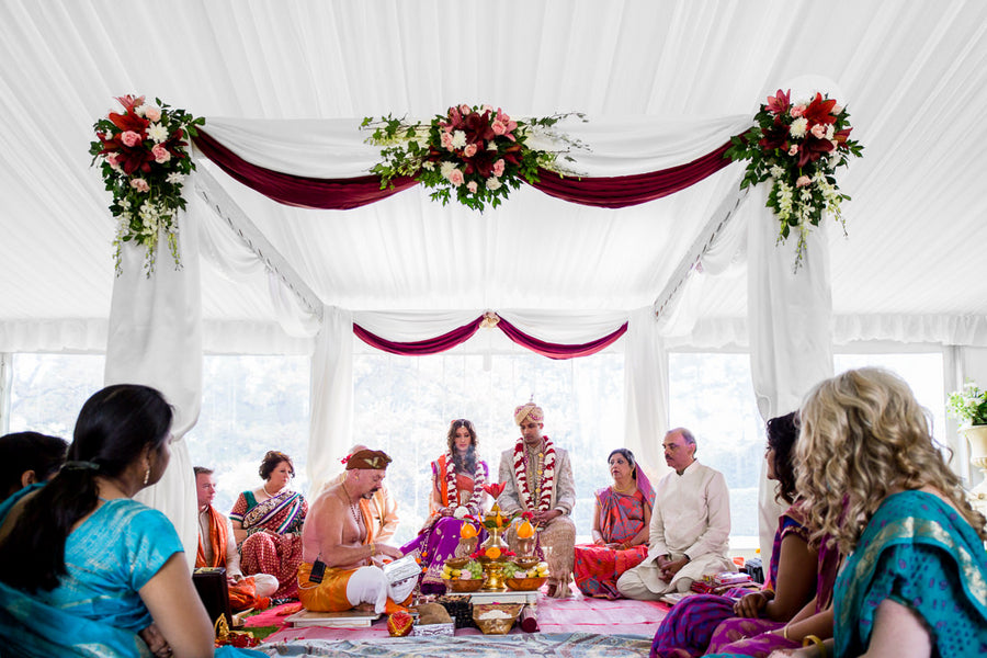 Fusion Indian Wedding Ceremony | Hilary Cam Photography