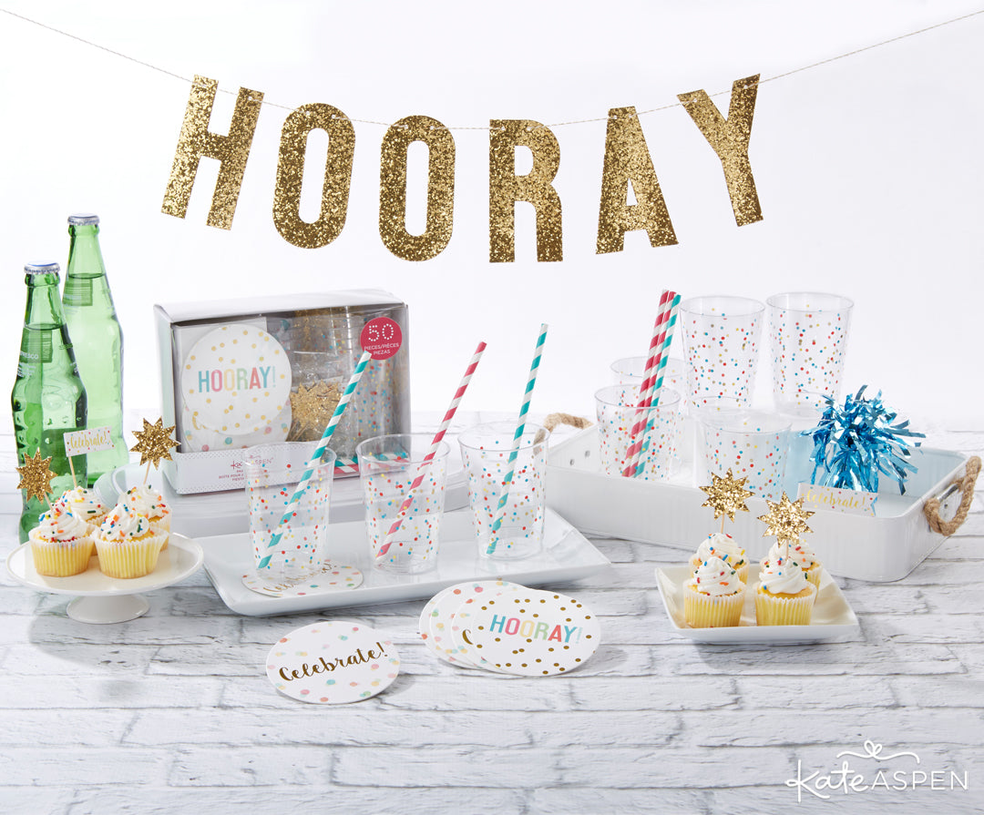 Hooray 50 Piece Party in a Box | 5 Essential Bachelorette Party Kits | Kate Aspen