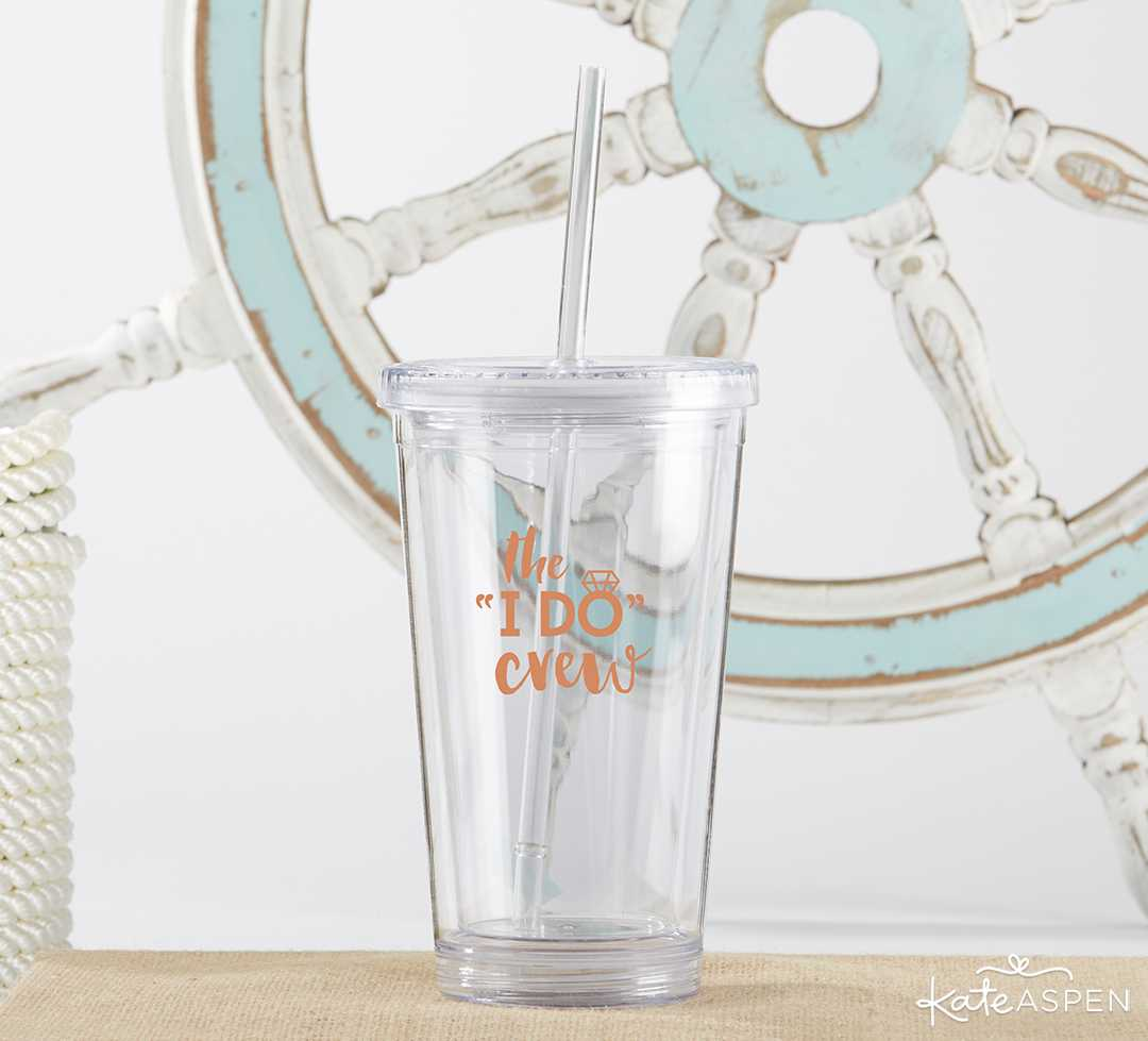 Printed 16 oz Acrylic Tumbler- I Do Crew | Curate Your Own Bridesmaid Proposal Kit + A Giveaway | Kate Aspen