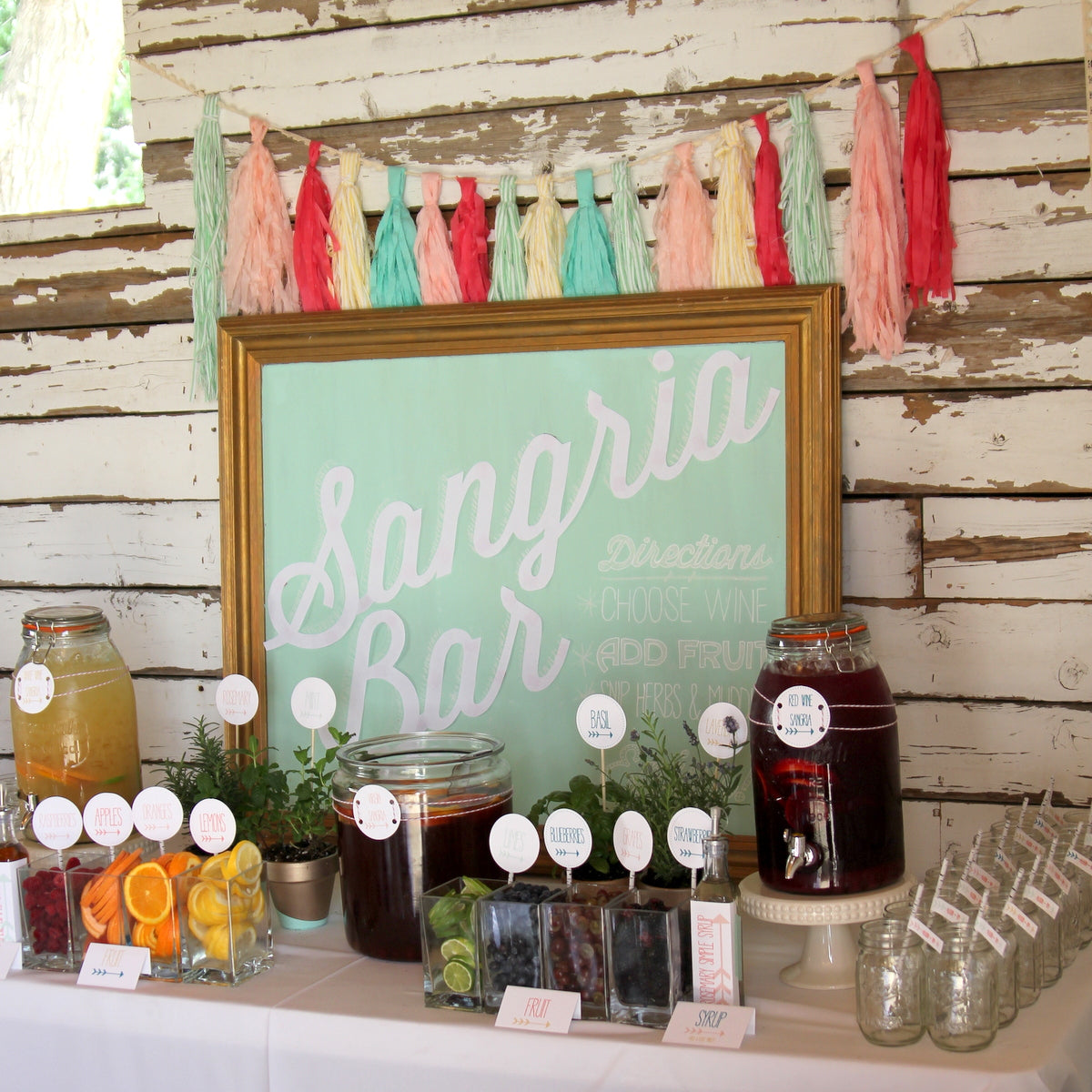 Sangria Bar | Party Trends | Kate Aspen
