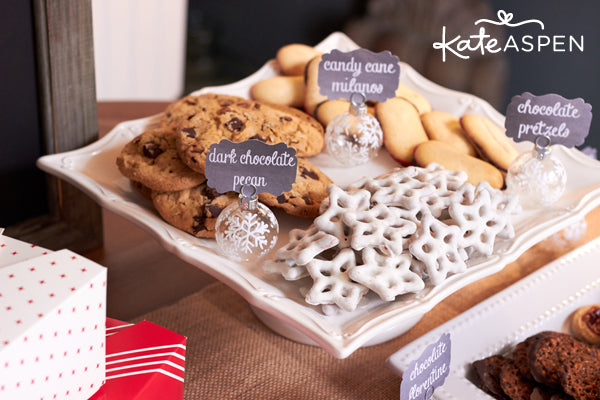 Cookies and Cocoa Party by Kate Aspen | Cookie Swap Ideas | Hot Chocolate Recipe | Hot Chocolate Bar Free Printables | Kate Aspen Blog
