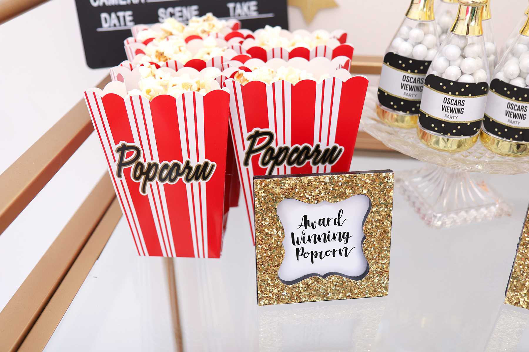 Oscars Viewing Party Decor | A Complete Guide to Hosting an Oscars Viewing Party | Kate Aspen