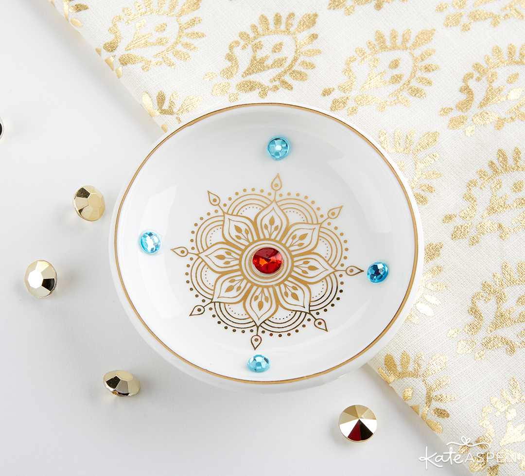 Indian Jewel Trinket Dish Bowl | Jewel Tone Accessories for Your Mehndi Party | Kate Aspen