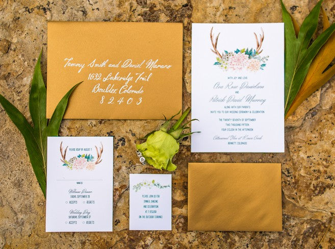 Invitation Suite | Al Fresco Vintage Wedding Shoot | Aldabella Photography
