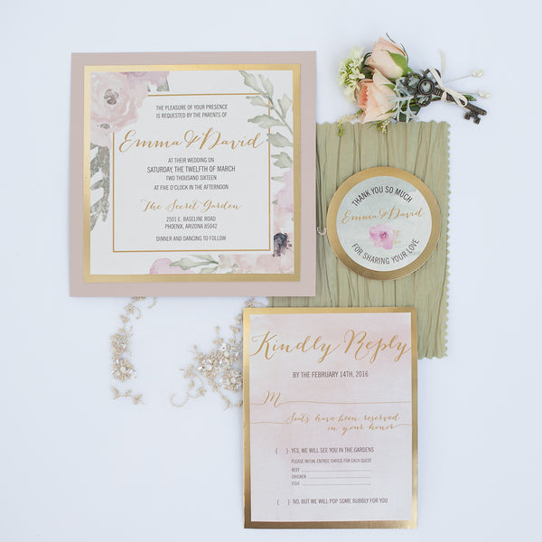 Invitation Suite  | Gorgeous Garden Wedding Shoot | Leslie Ann Photography | @kateaspen