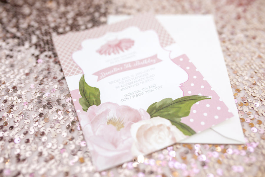 Party Invite  | Tutu Cute Valentine's Day Party | Stephanie Massaro Photography