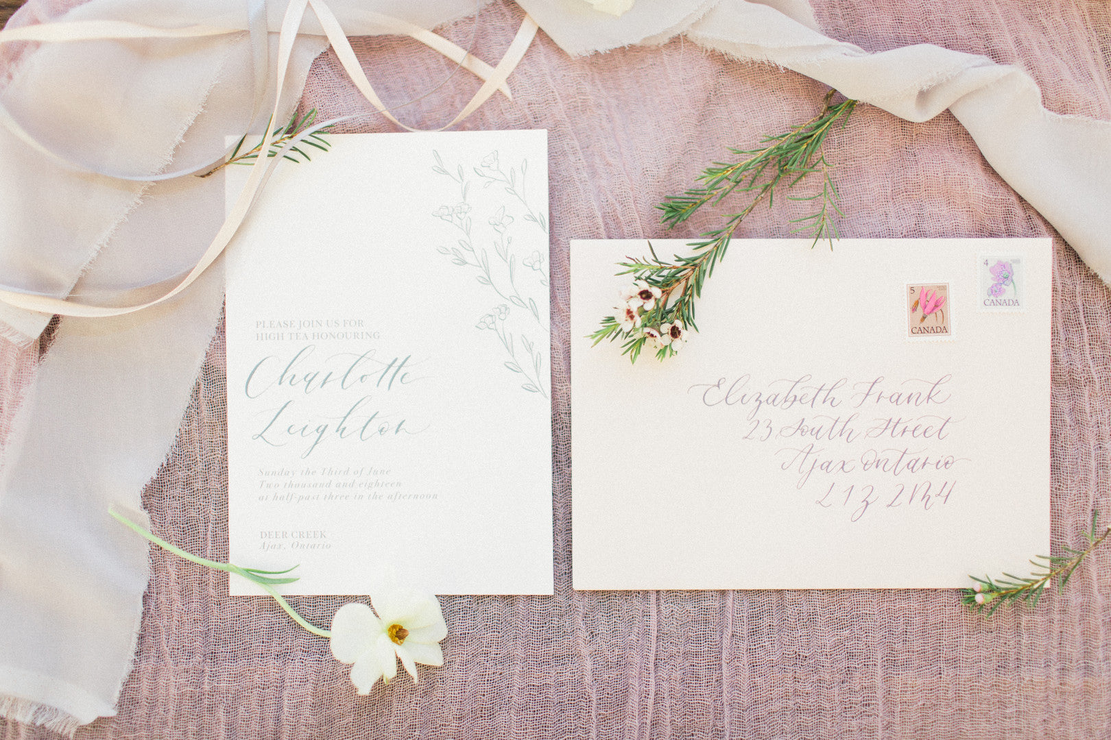 Invitations | Tips For the Perfect Floral Bridal Shower | Kate Aspen