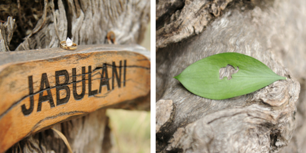 Jabulani Camp Sign | African Safari Wedding | Sarah Marie Photos