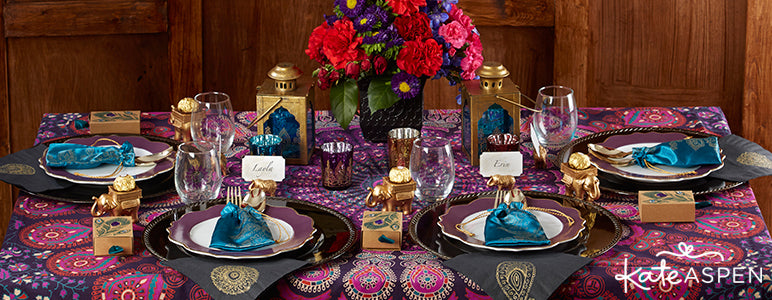 Jewel Tone Indian Wedding Inspiration from Kate Aspen