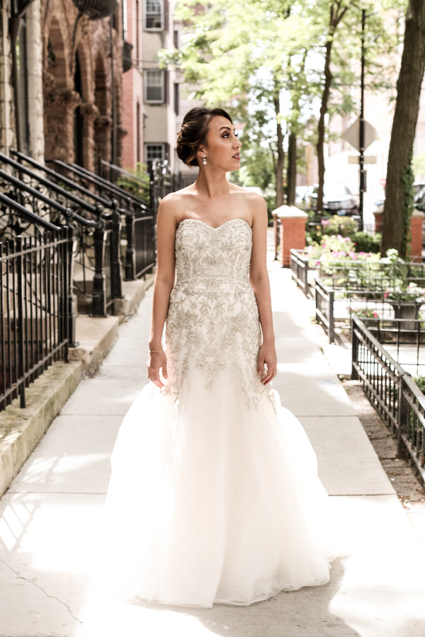 Jeweled Mermaid Wedding Dress | 2017 Wedding Dresses | Kate Aspen