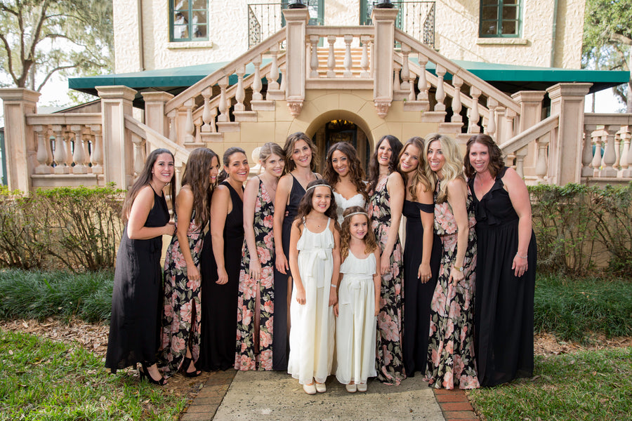 Bridal Party | Beautiful Outdoor Jewish Wedding | Kate Aspen
