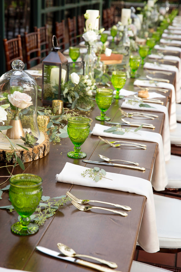 Table Setting | Beautiful Outdoor Jewish Wedding | Kate Aspen