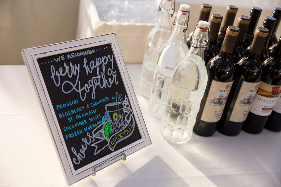 Berry Happy Together Cocktails | Beautiful Outdoor Jewish Wedding | Kate Aspen