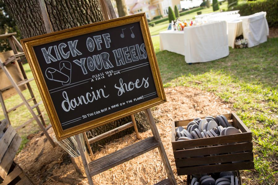 Dancing Shoes | Beautiful Outdoor Jewish Wedding | Kate Aspen