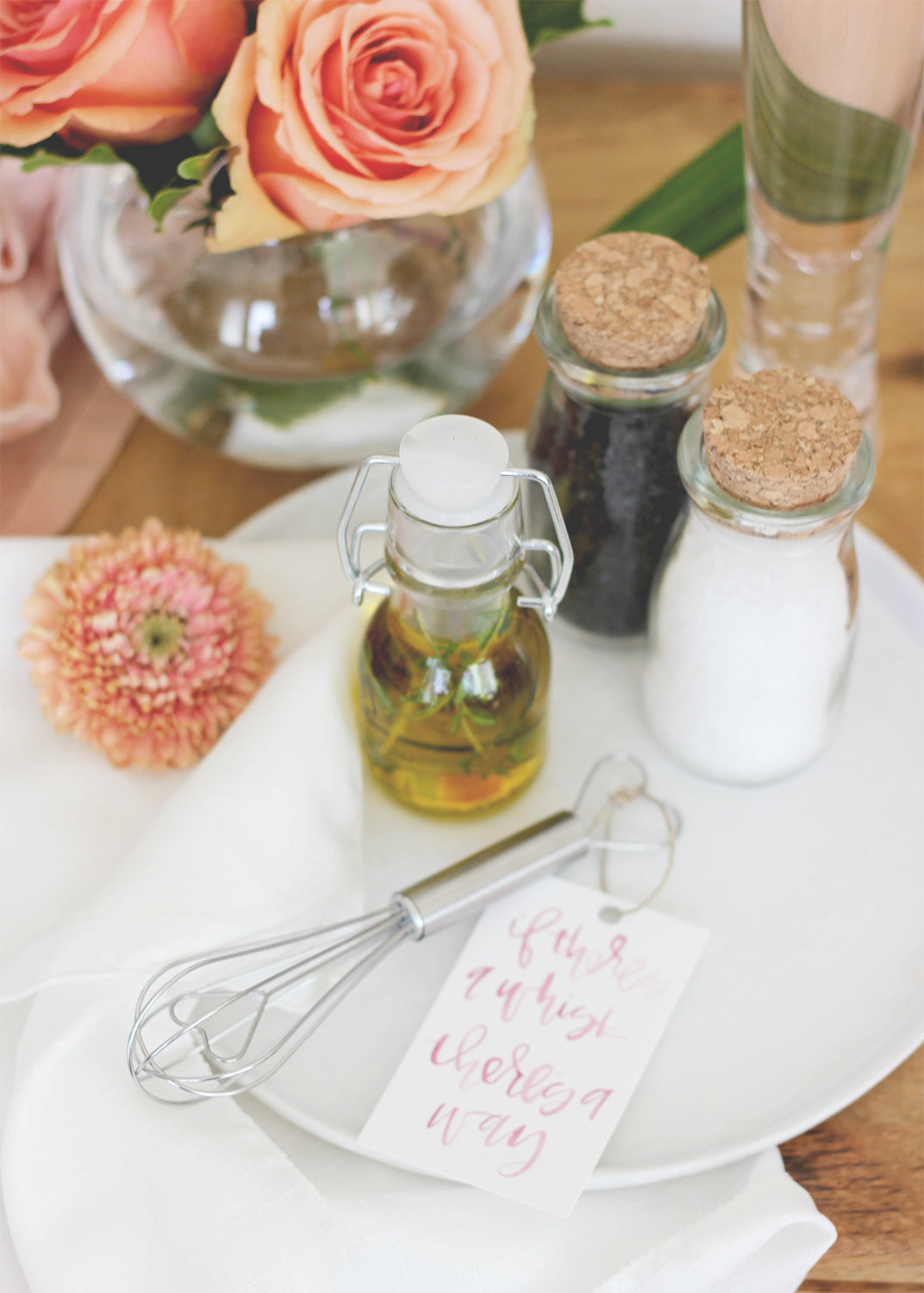 Cooking Favor Set with Mini Whisk, Mini Infused Olive Oil and Small Salt and Pepper | Kate Aspen | A Fabulous Fete