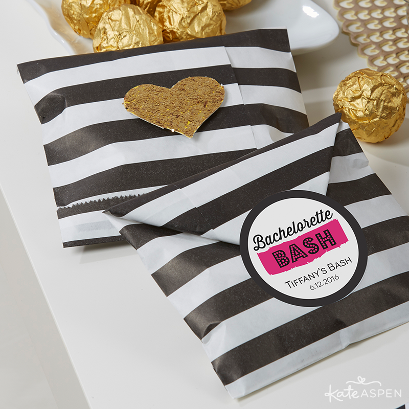 Bachelorette Party Paper Favor Bags and Stickers | Kate Aspen