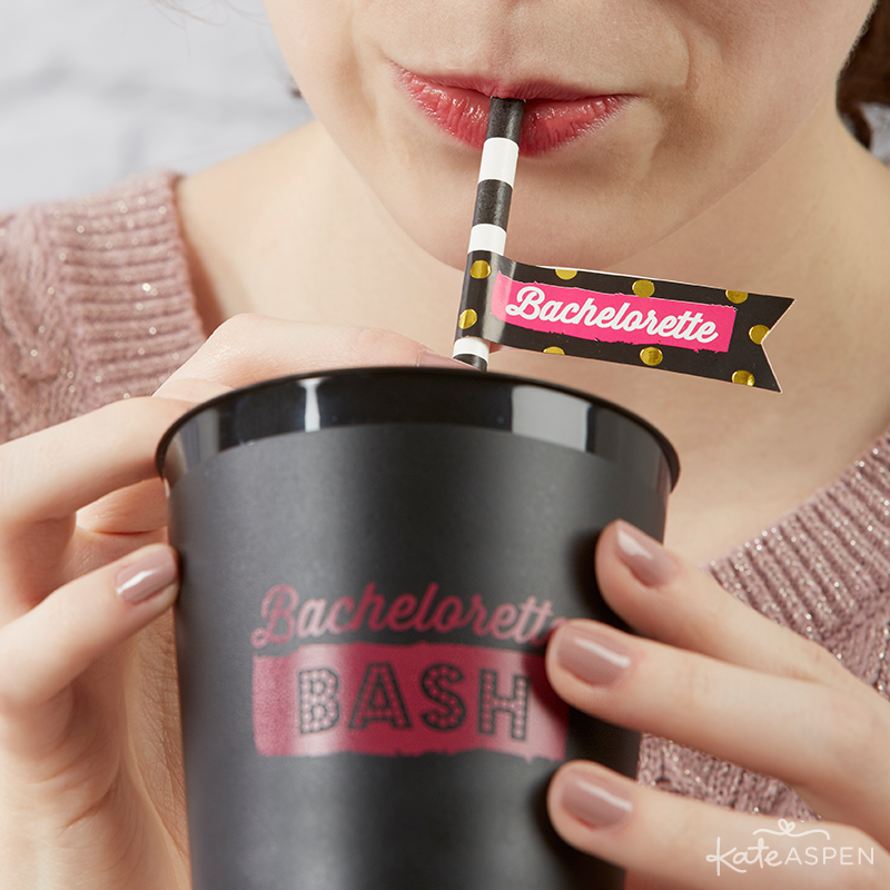 Bachelorette Bash Bachelorette Party Cups and Straws | Kate Aspen