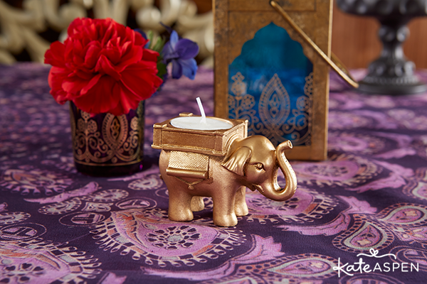 Gold Elephant Tealight | Kate Aspen