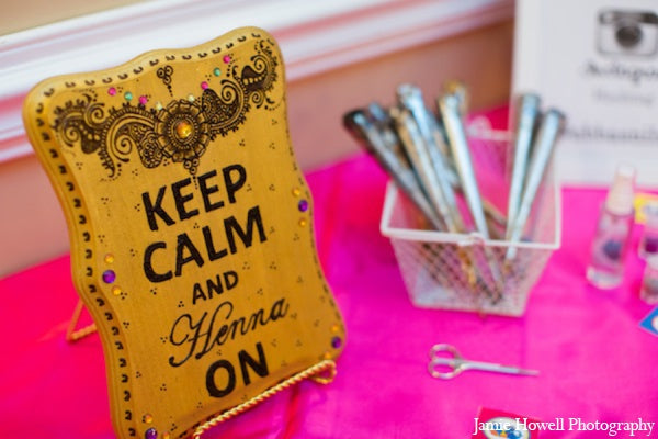 Keep Calm and Henna On Sign | Jamie Howell Photography via Marharani Weddings