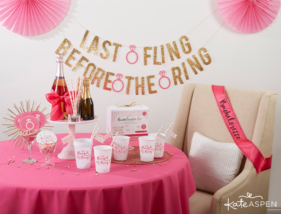 Last Fling Before the Ring 66 Piece Bachelorette Party Kit | 5 Essential Bachelorette Party Kits | Kate Aspen