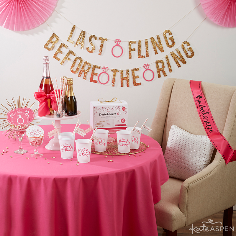 Last Fling Before the Ring Bachelorette Party Table | Kate Aspen