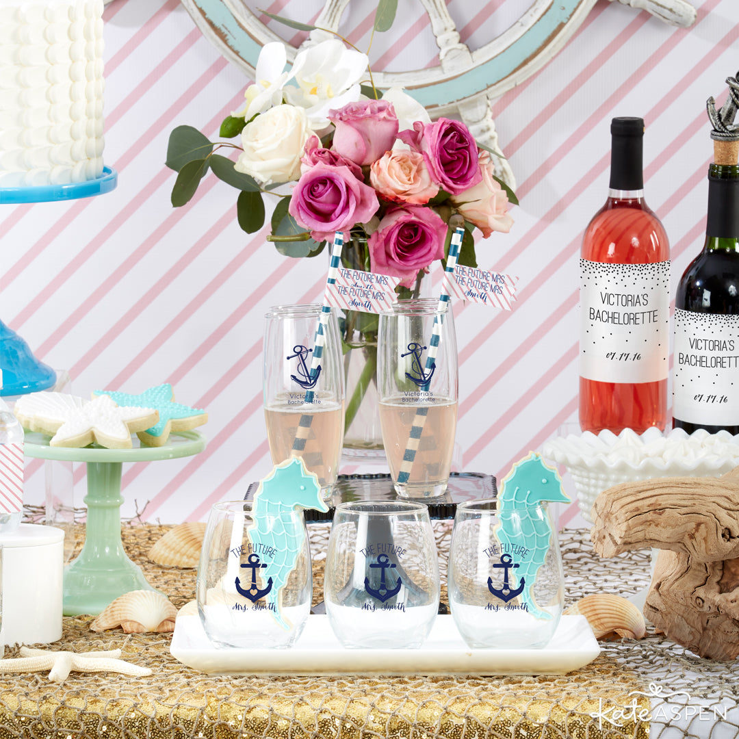 Glassware | Last Sail Before the Veil | Bachelorette Party