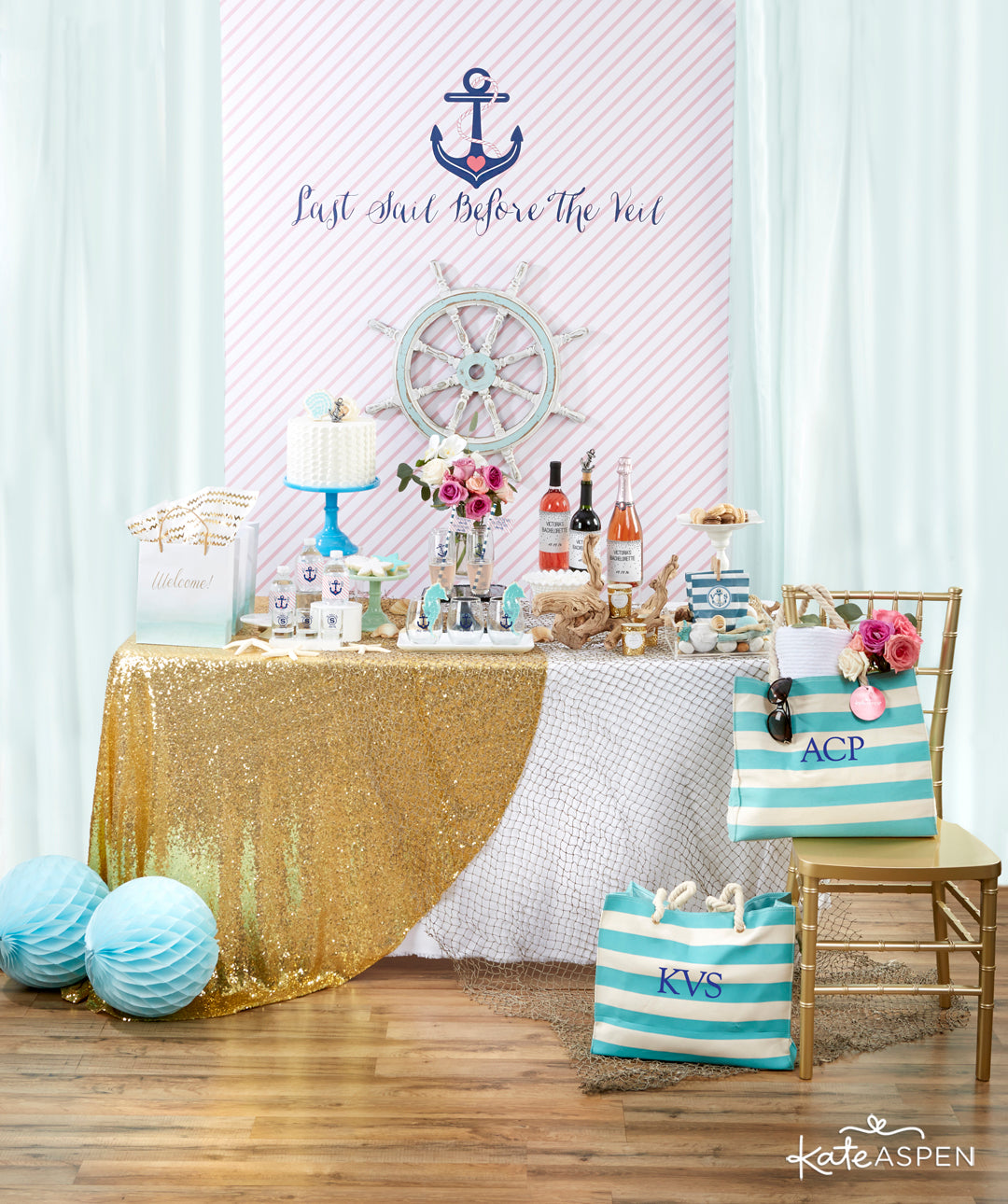 Tablescape | Last Sail Before the Veil | Bachelorette Party
