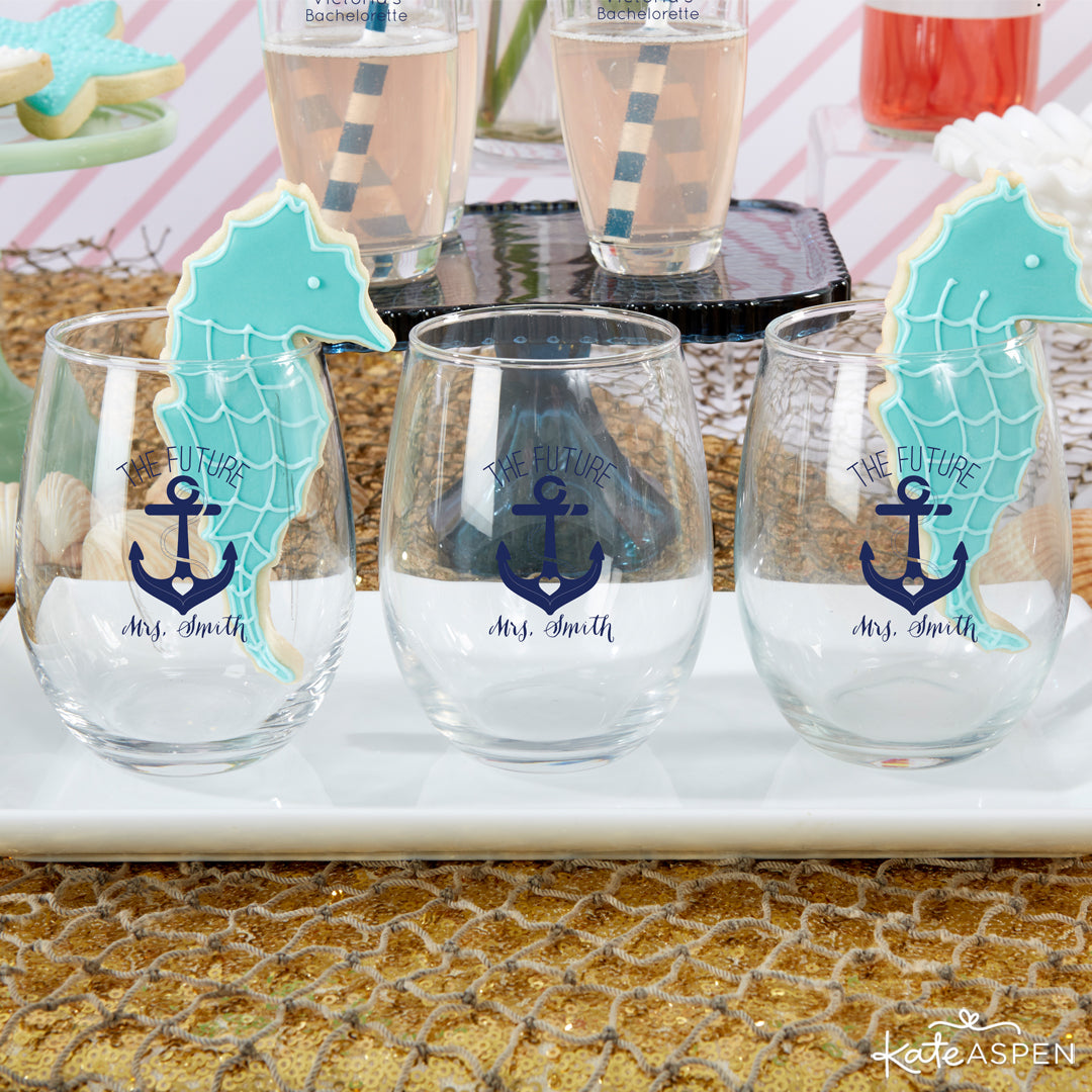 Wine Glasses | Last Sail Before the Veil | Bachelorette Party