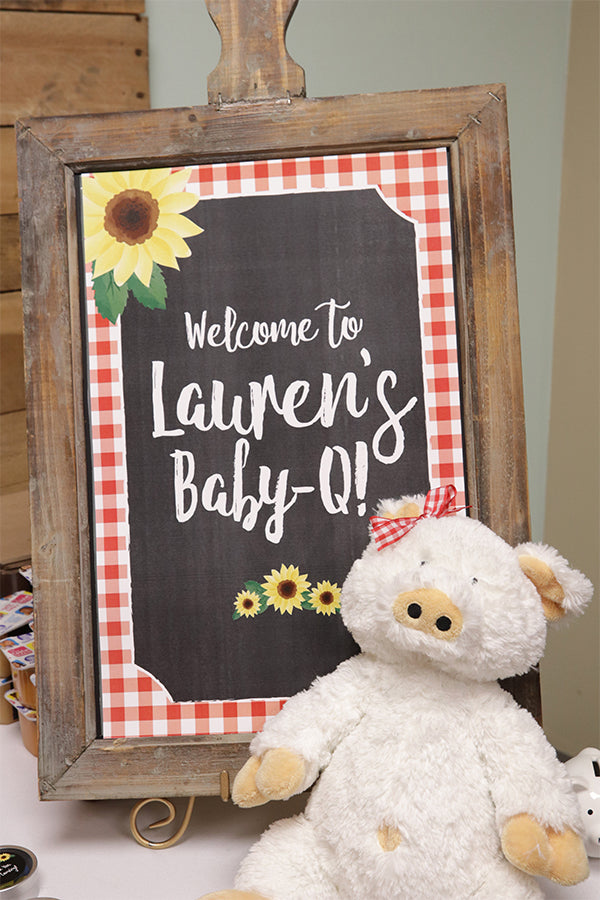 Lauren's Baby-Q | A Sunflower Baby-Q Celebration | Kate Aspen