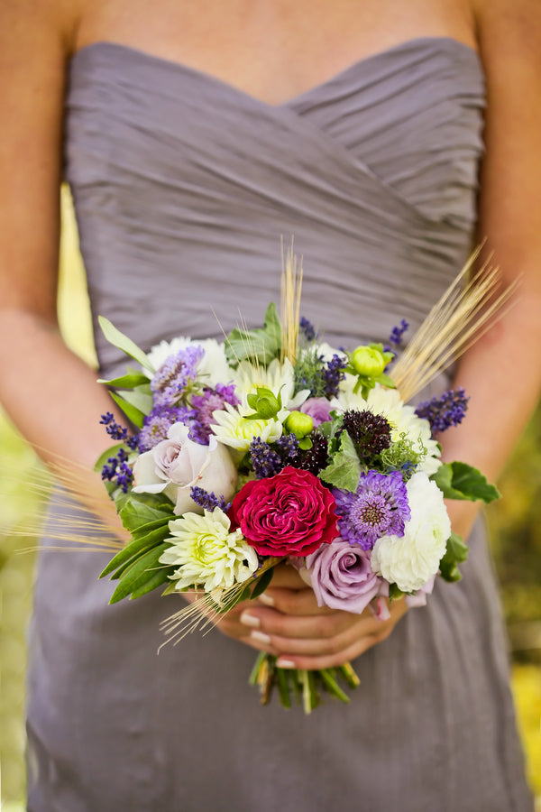 Pink, purple and white bridesmaid bouquet | Pepper Nix Photography