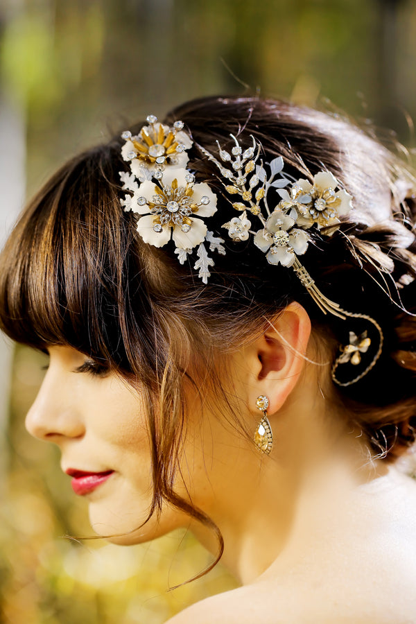 Close up of bride's hair | Pepper Nix Photography