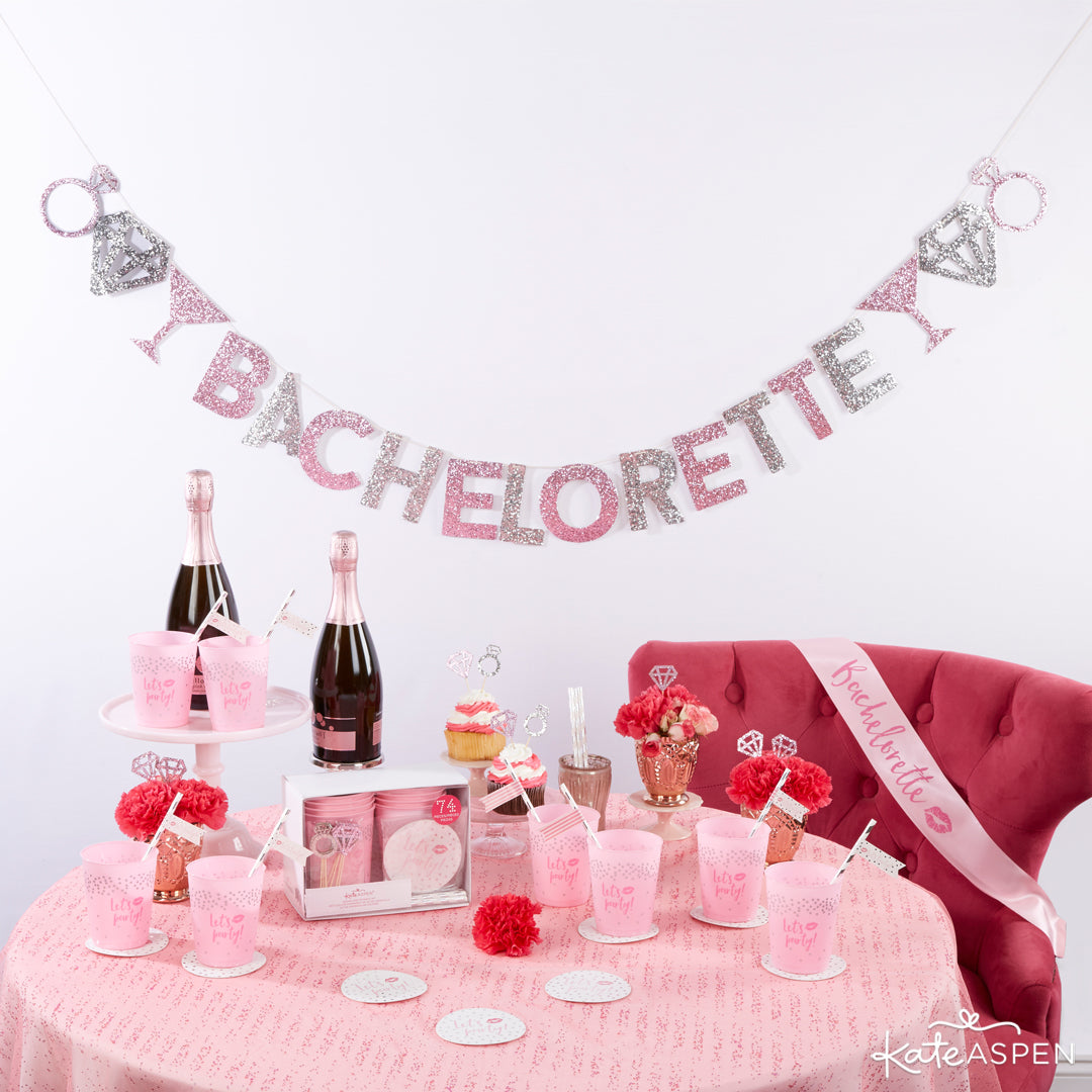 Let's Party 74 Piece Bachelorette Party Kit | 5 Essential Bachelorette Party Kits | Kate Aspen