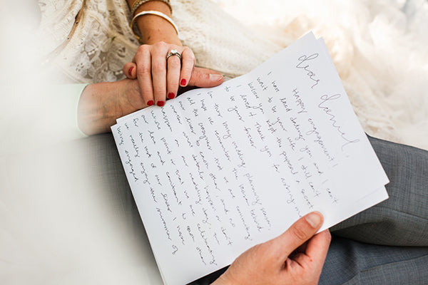Bride's Letter to the Groom | Rebecca Anne Photography