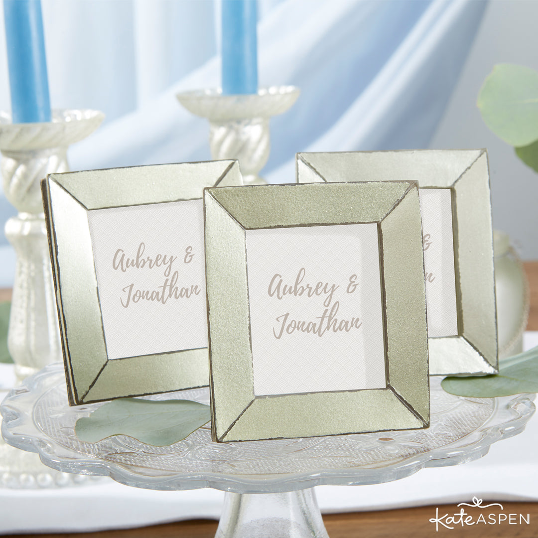 Light Gold Antiqued Frame | 12 Must Have Accents for a Whimsical Wedding | Kate Aspen