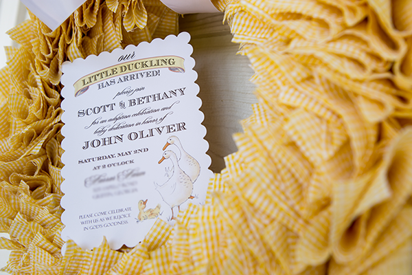 Party Invitation in Wreath | Little Duckling Adoption Party by Sweet Georgia Sweet