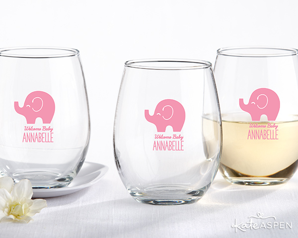 Elephant Stemless Wine Glasses | Kate Aspen