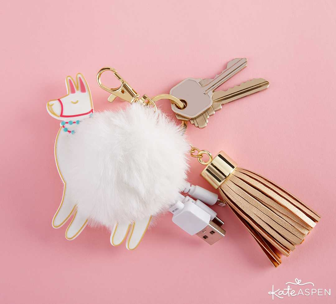 Llama USB Keychain | 10 Gift Ideas for Your Wedding Party | Kate Aspen
