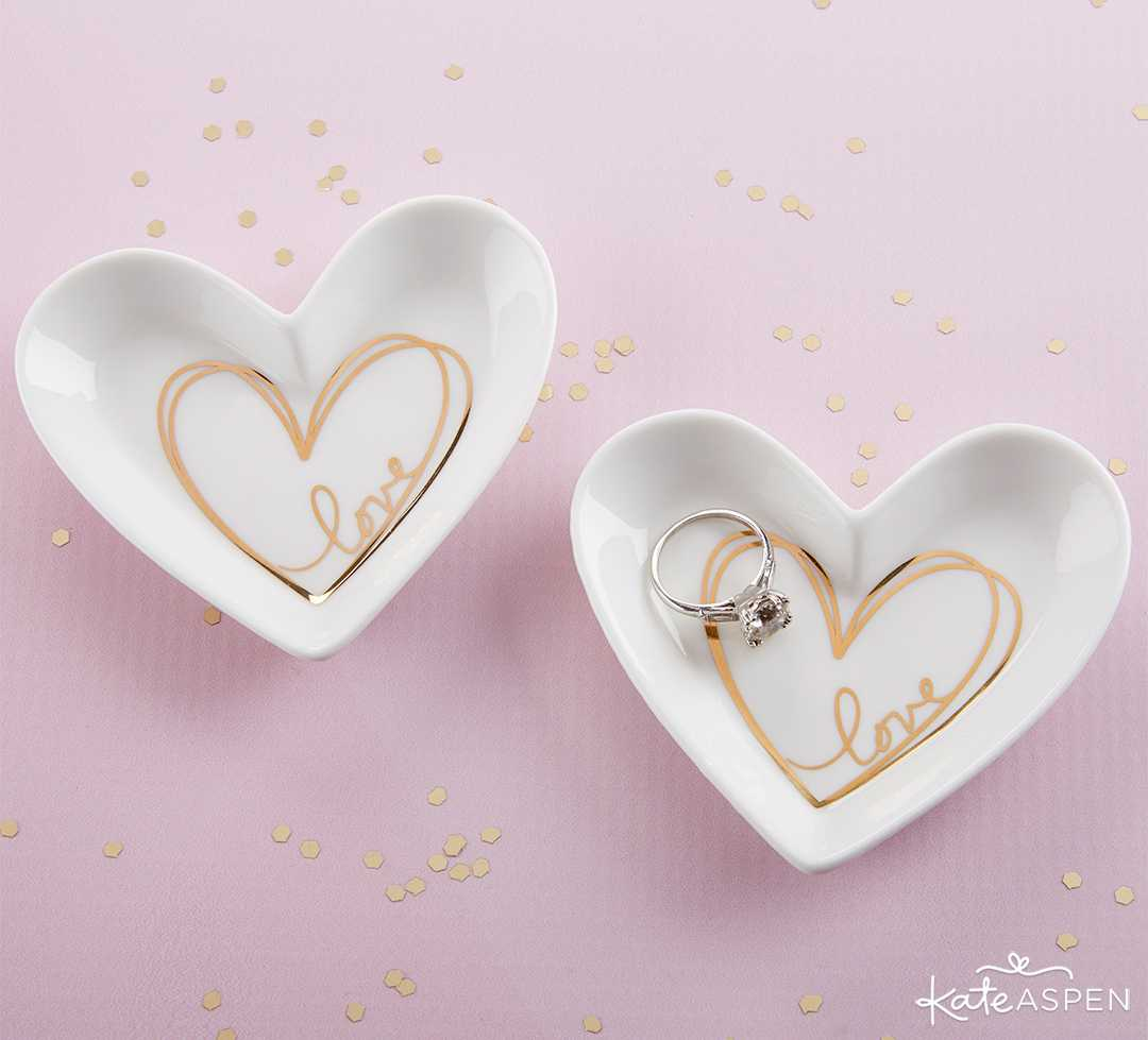 Heart Shaped Trinket Dish | Curate Your Own Bridesmaid Proposal Kit + A Giveaway | Kate Aspen