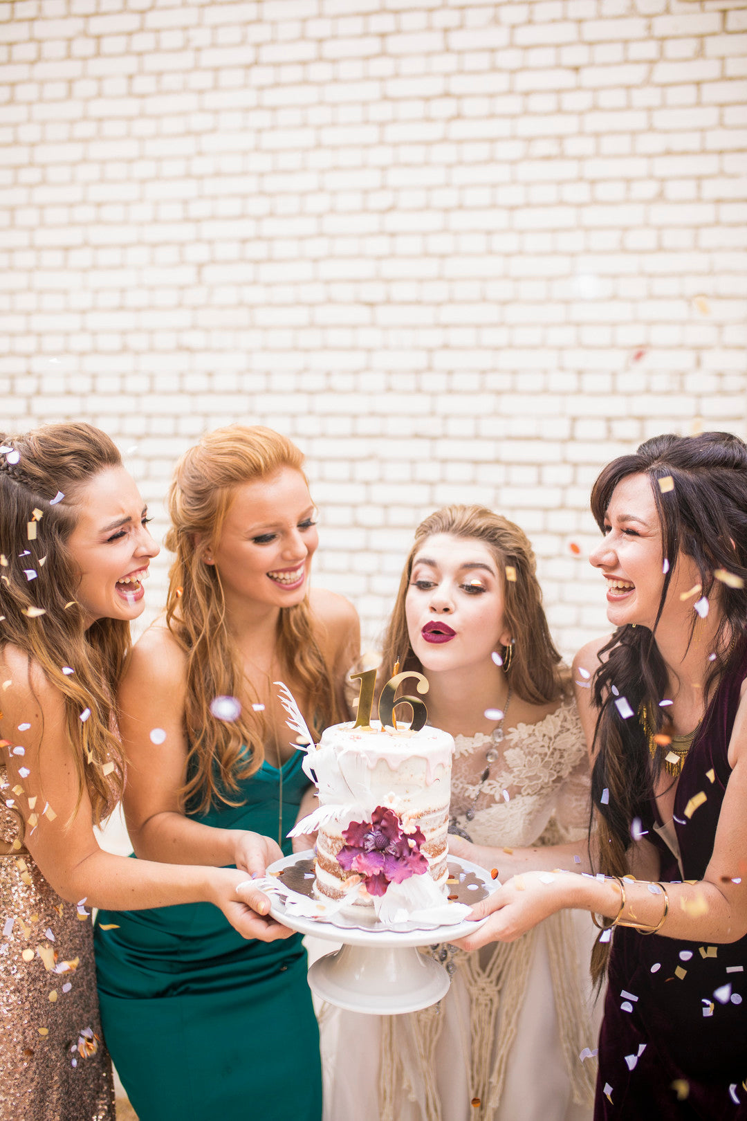Blowing Our Candles | A Super Bohemian Sweet 16 Soiree | Kate Aspen