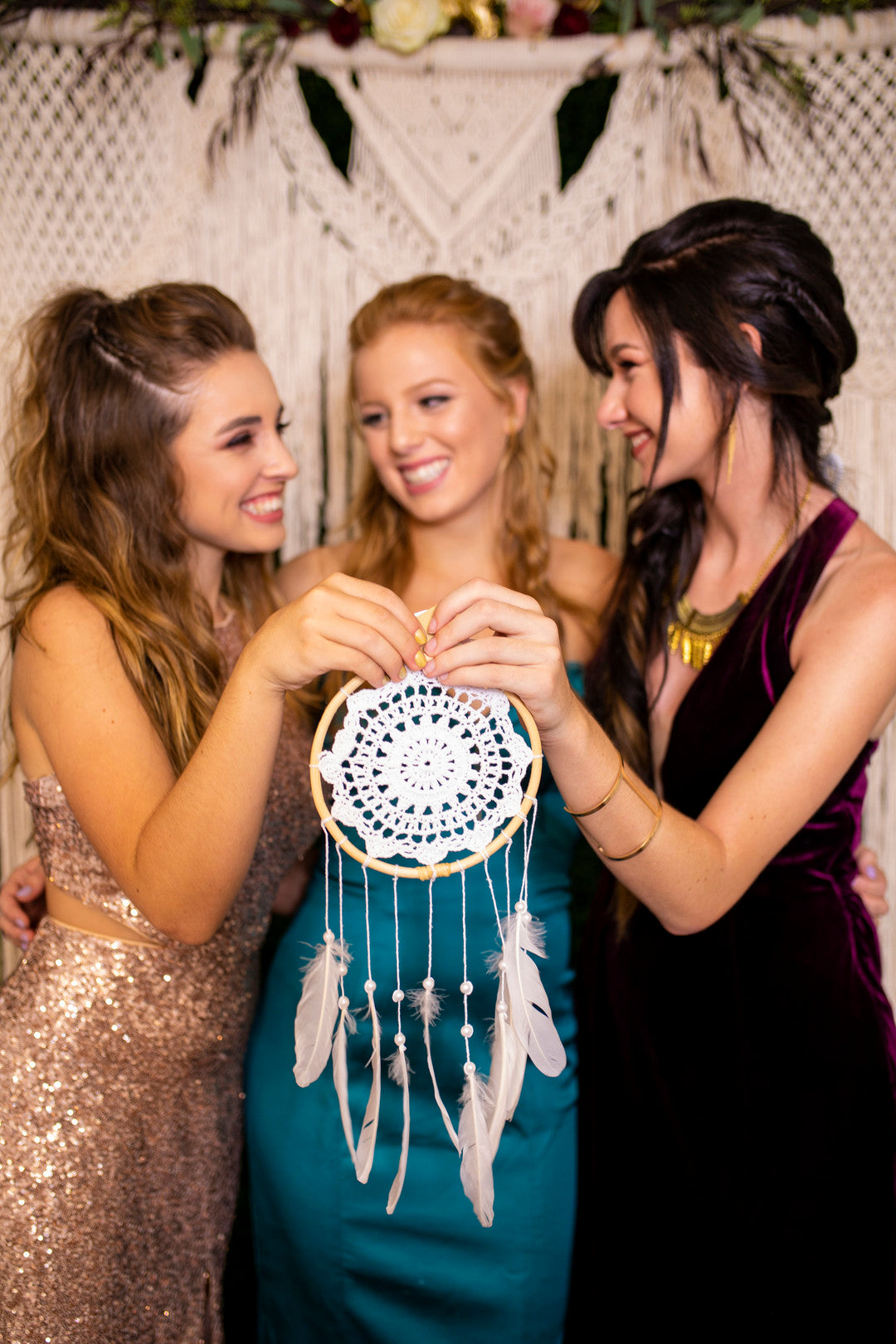Party Guests and Dream Catcher | A Super Bohemian Sweet 16 Soiree | Kate Aspen