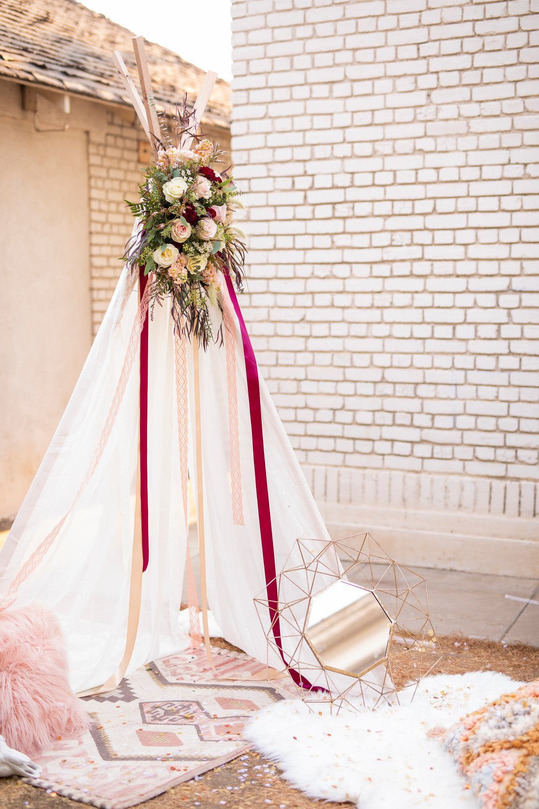 Tee Pee | A Super Bohemian Sweet 16 Soiree | Kate Aspen