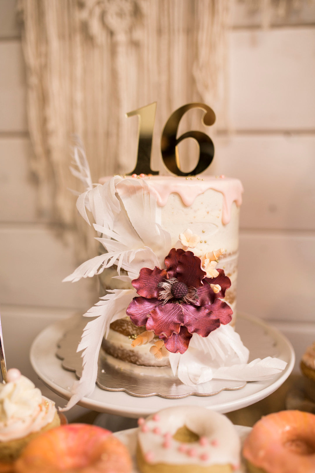 Birthday Cake | A Super Bohemian Sweet 16 Soiree | Kate Aspen
