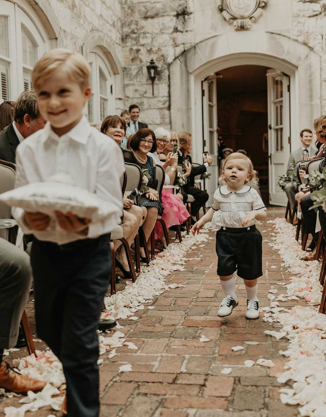 Ring Bearer | 2 Over the Top Rooftop weddings | Kate Aspen