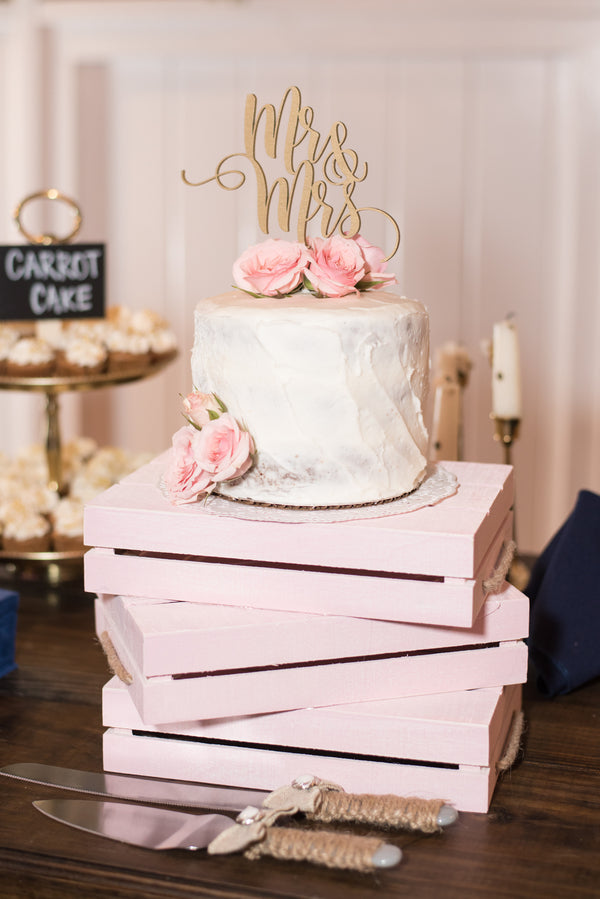 Wedding Cake | An Elegant Rose Colored Wedding | Corner House Photography | Kate Aspen