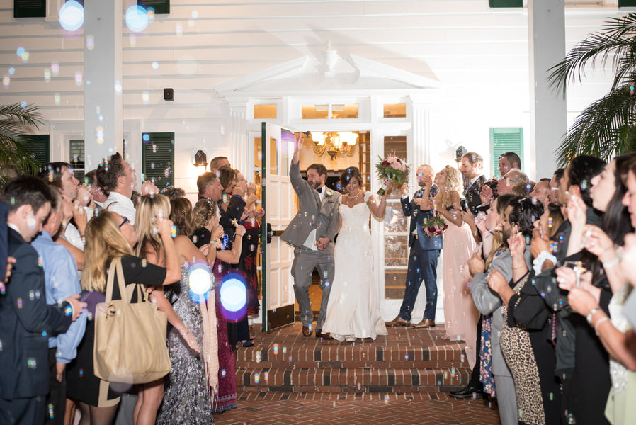 Bubble Send-off | An Elegant Rose Colored Wedding | Corner House Photography | Kate Aspen