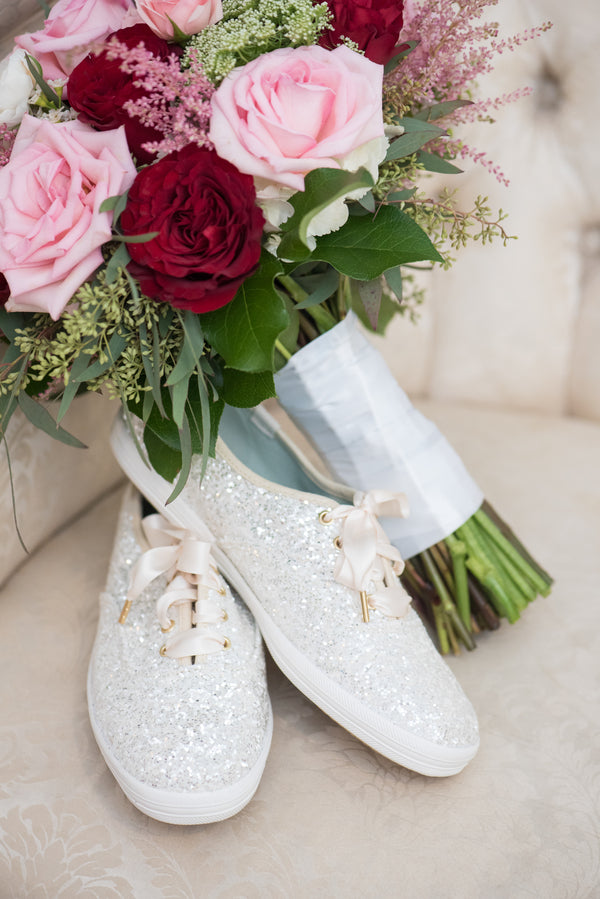 Sparkly Keds | An Elegant Rose Colored Wedding | Corner House Photography | Kate Aspen