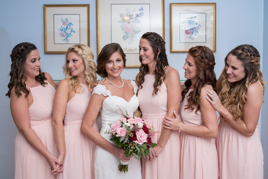 Bridesmaids | An Elegant Rose Colored Wedding | Corner House Photography | Kate Aspen