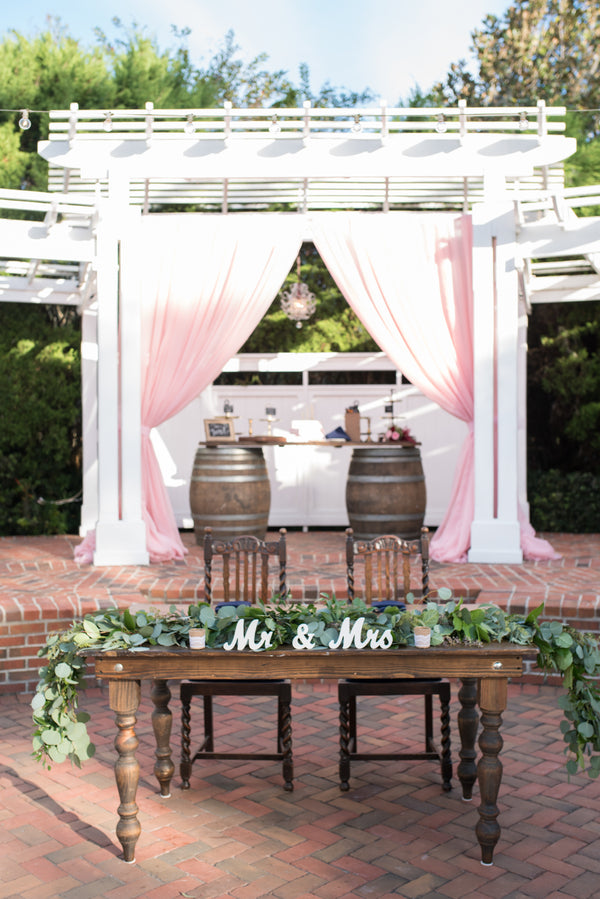 Sweetheart Table | An Elegant Rose Colored Wedding | Corner House Photography | Kate Aspen